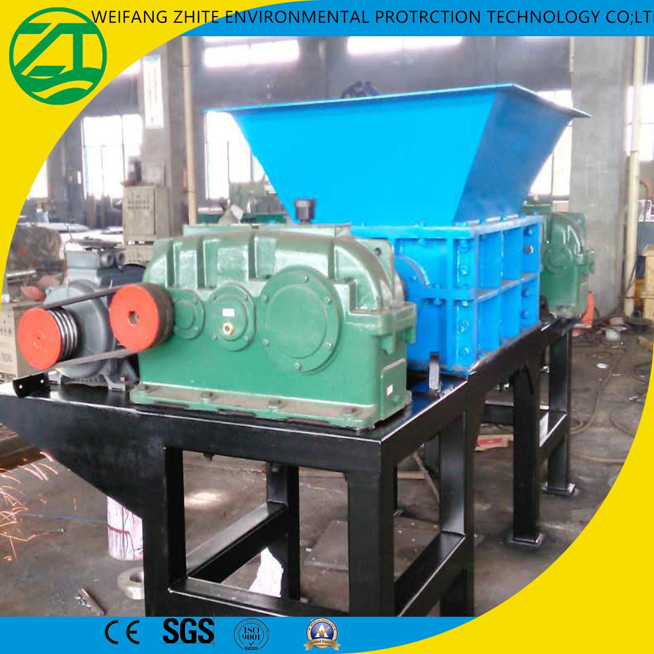 China Biaxial Living Garbage/Waste Plastic Recycling/Foam/Wood/Tire ...