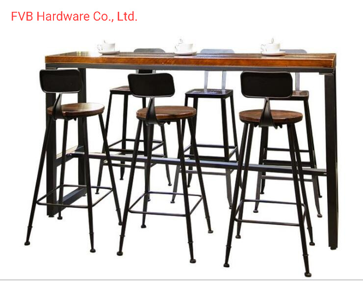 China Metal High Top Bar Stool Chairs Cast Iron High Chair And High Table Cafe Furniture China Bar Furniture Bar Stool