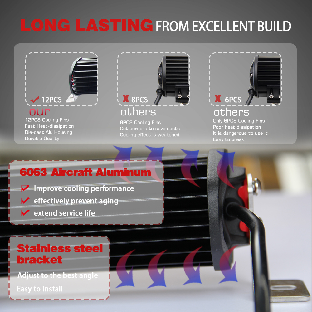 China Wholesale 8d Spot Flood Combo 384w 4 Row 22 Inch Cree Led Wiring Light Bar Jeep Jk Off Road For Wrangler