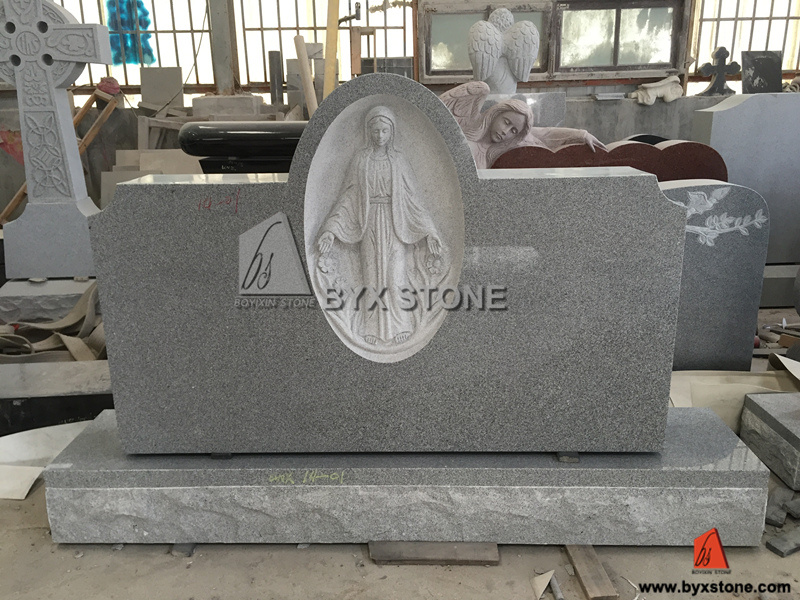 American Black Granite Monument / Headstones with Angel Carving pictures & photos