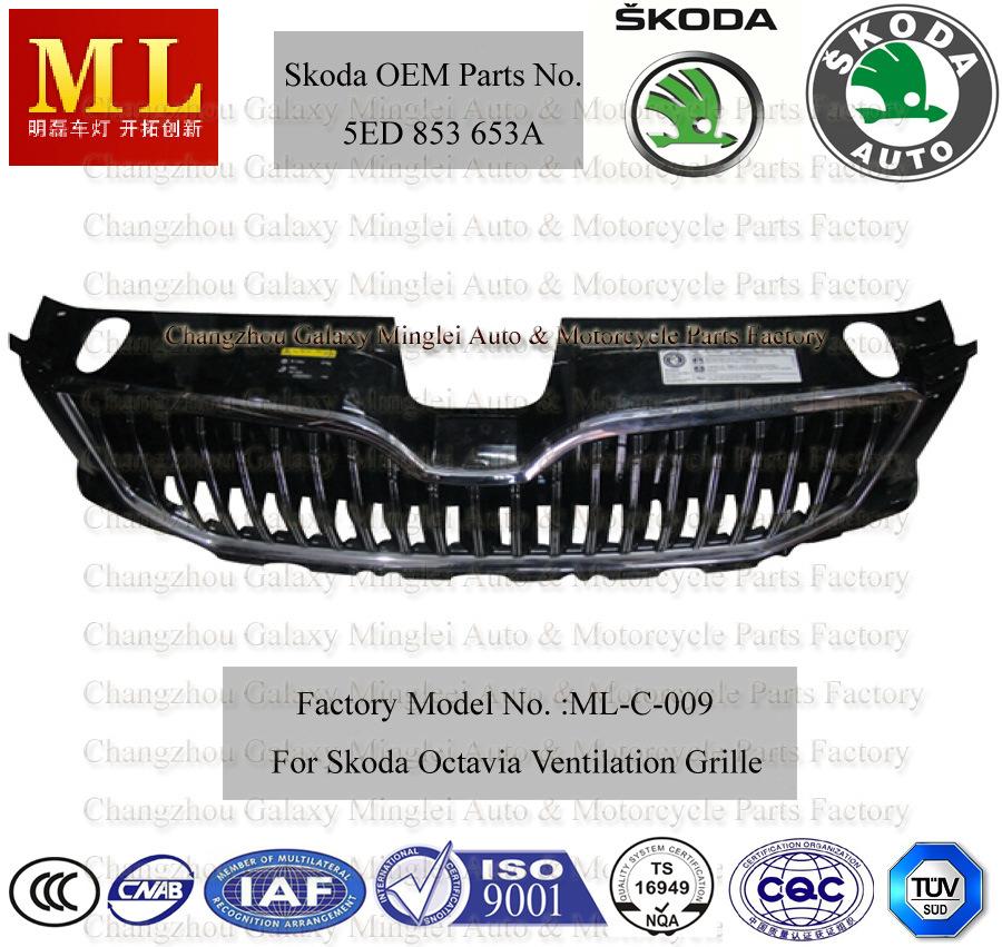 china car body parts for 2012 skoda octavia grille 5ed 853 653a china auto parts auto. Black Bedroom Furniture Sets. Home Design Ideas