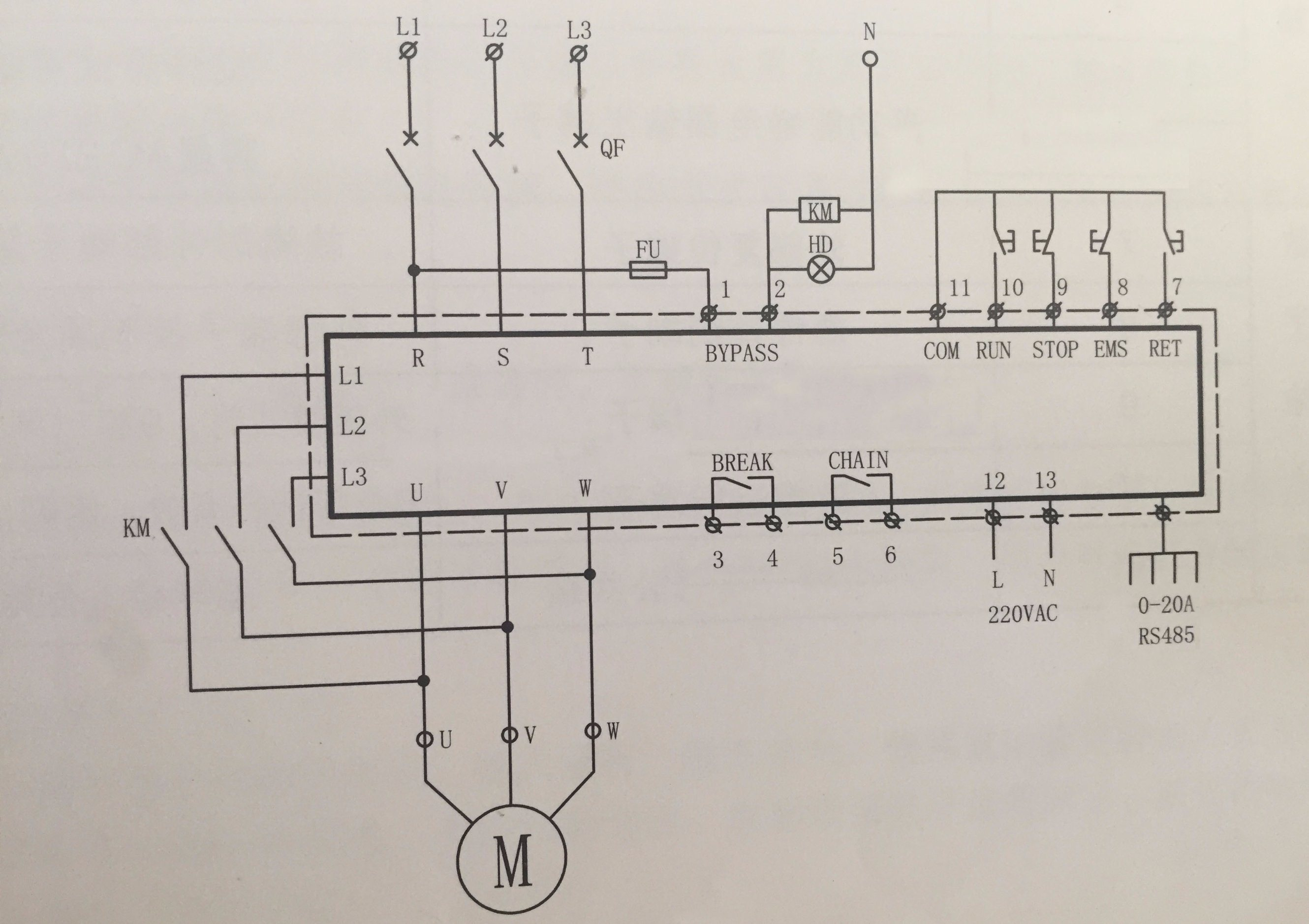 China Three Phase 220v 55kw Water Pump Motor Soft Starter Photos 3 Wiring Diagram