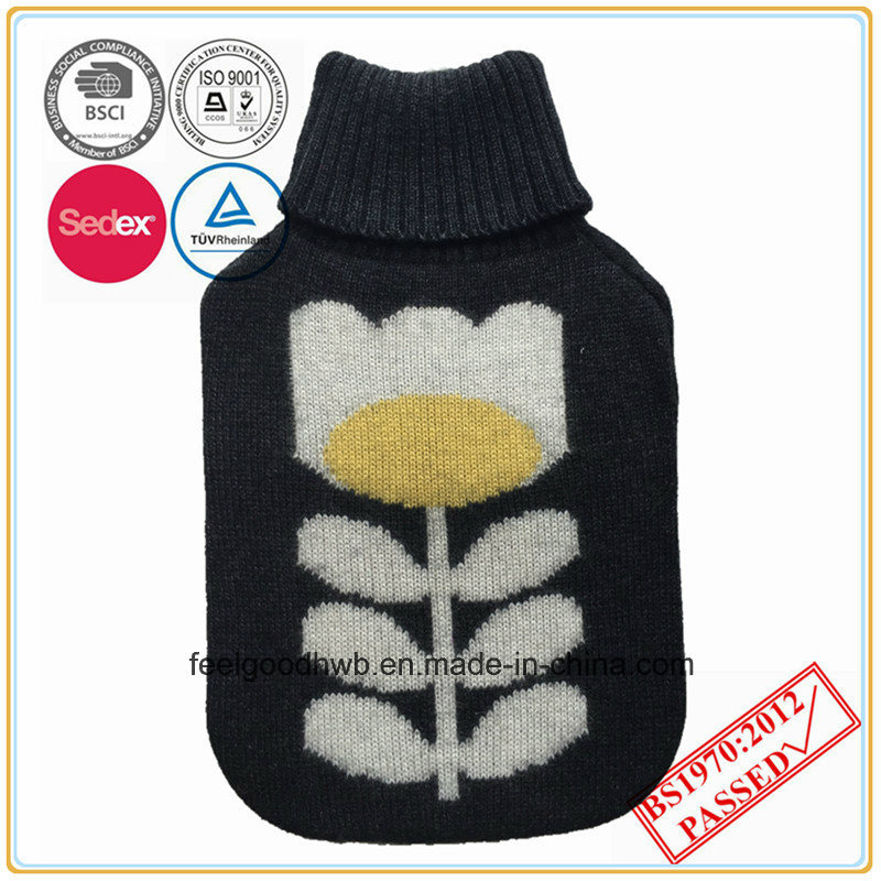 2L Hot Water Bottle with Cashmere Knitted Cover