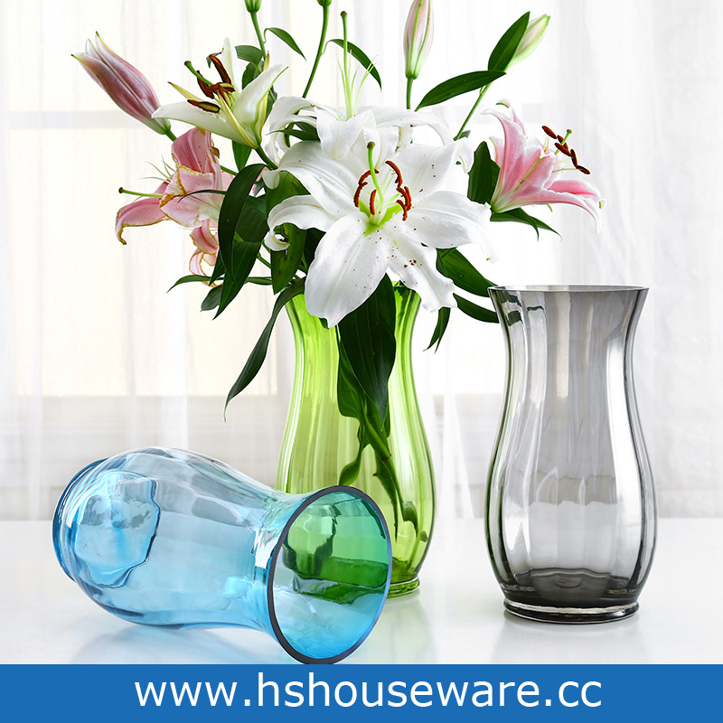 China Hand Blown Art Color Glass Vase China Glass Vase Glass Tabletop