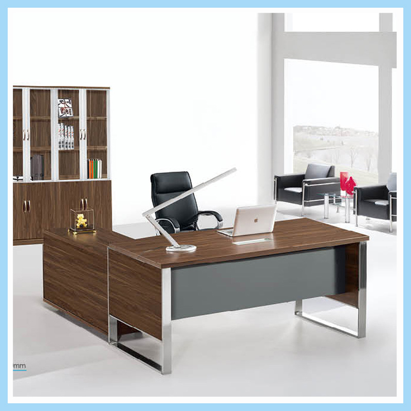 China Teak Veneer Executive Offie Desk With Modern Finishing Office Table Furniture