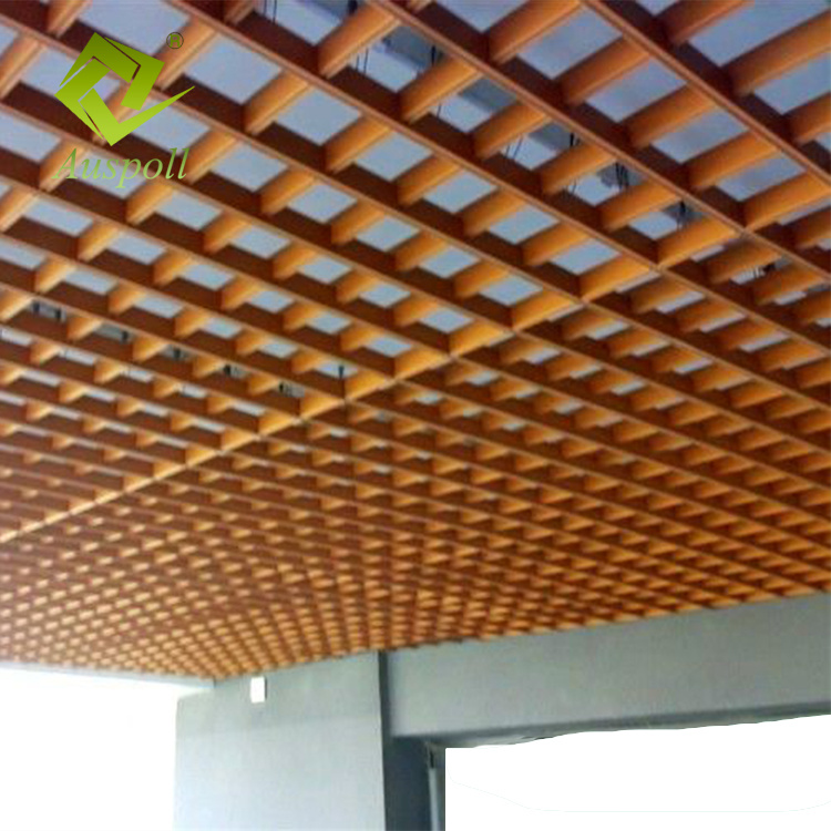 China High Quality 30w100h Aluminum Suspended Open Grid Ceiling