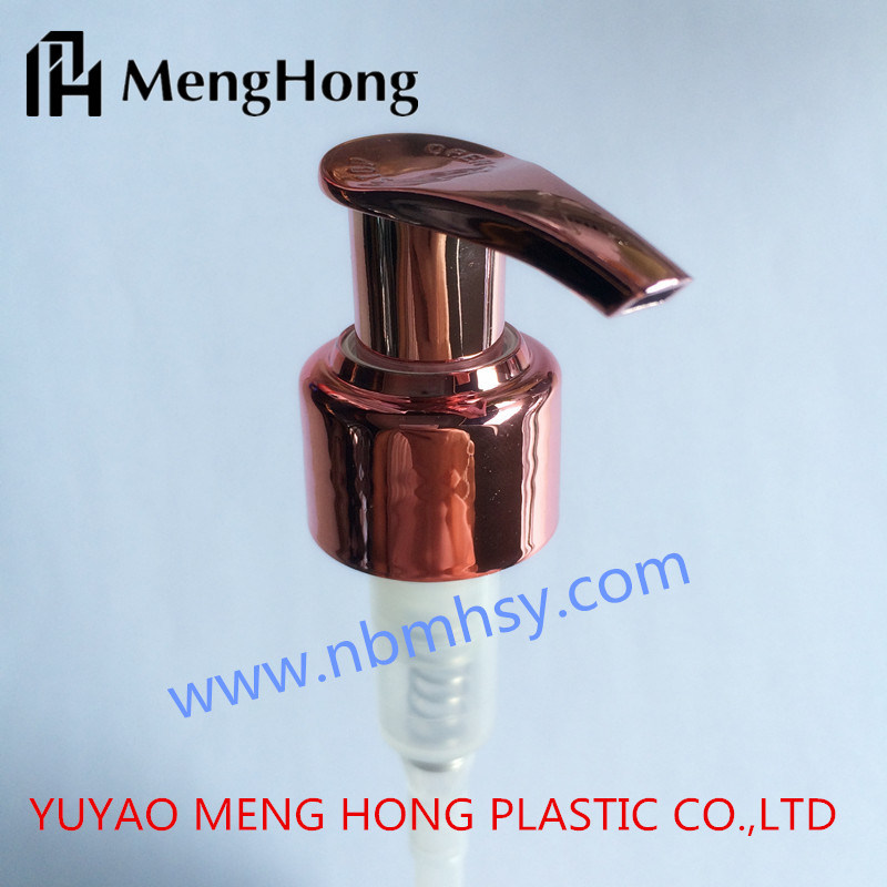 China rose golden uv pp lotion pump for liquid soap china pump lotion pump