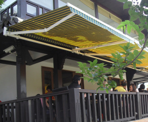 China Manual Type Heavy Duty Retractable Awning For Patio And