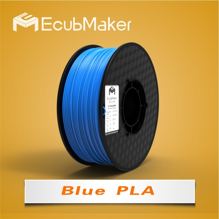 1.75mm PLA Filament for 3D Printer Blue Color