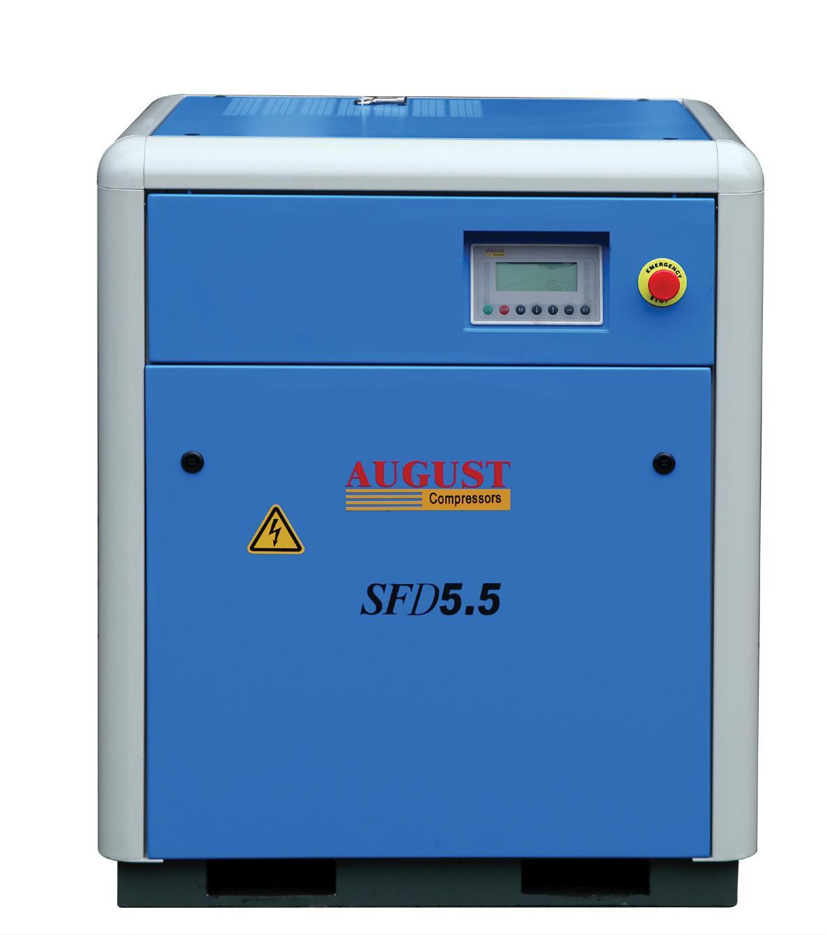Wholesale Industrial 5.5kw/7.5HP August Small Air Cooled Screw Compressor Manufacture