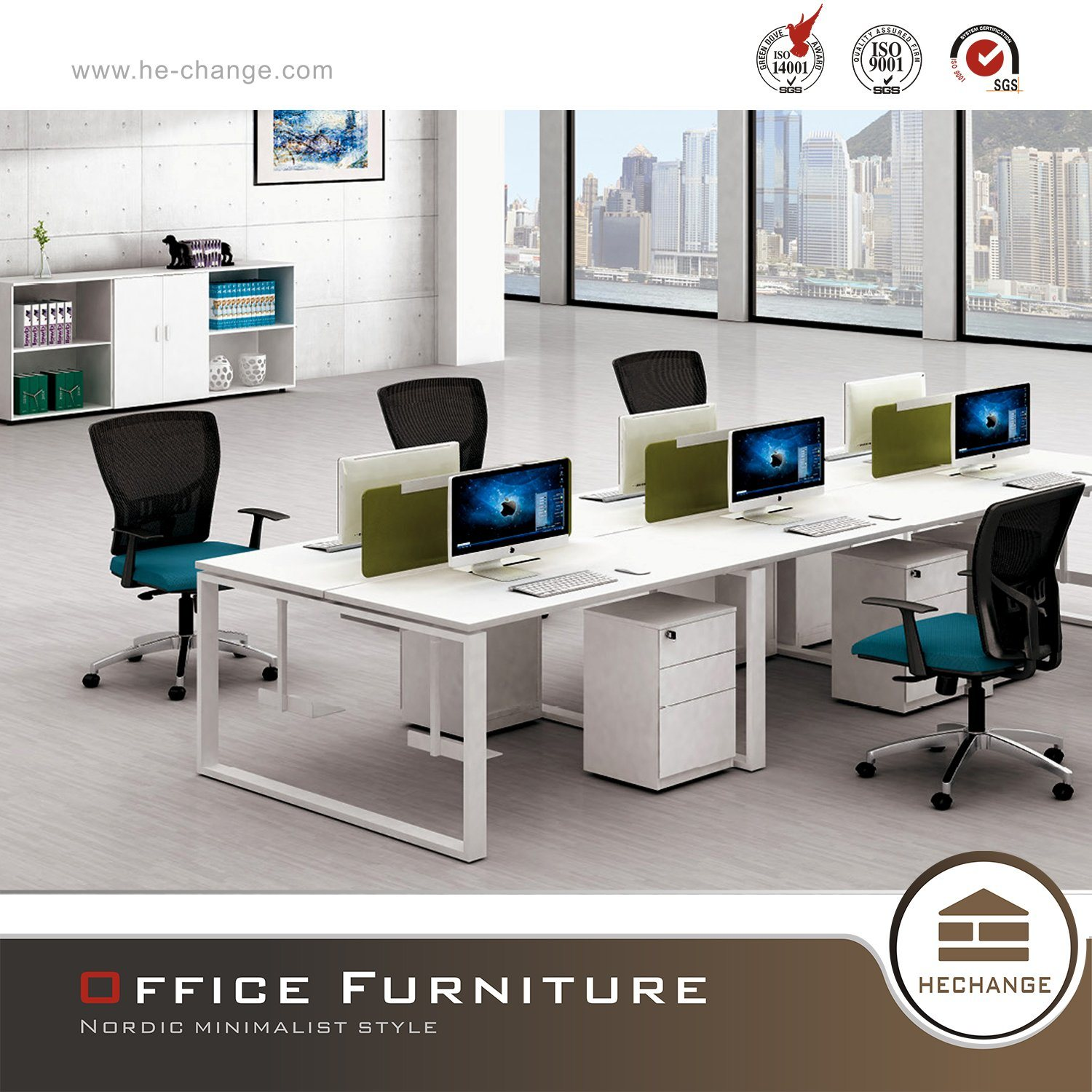 Office Furniture Open 6 Person