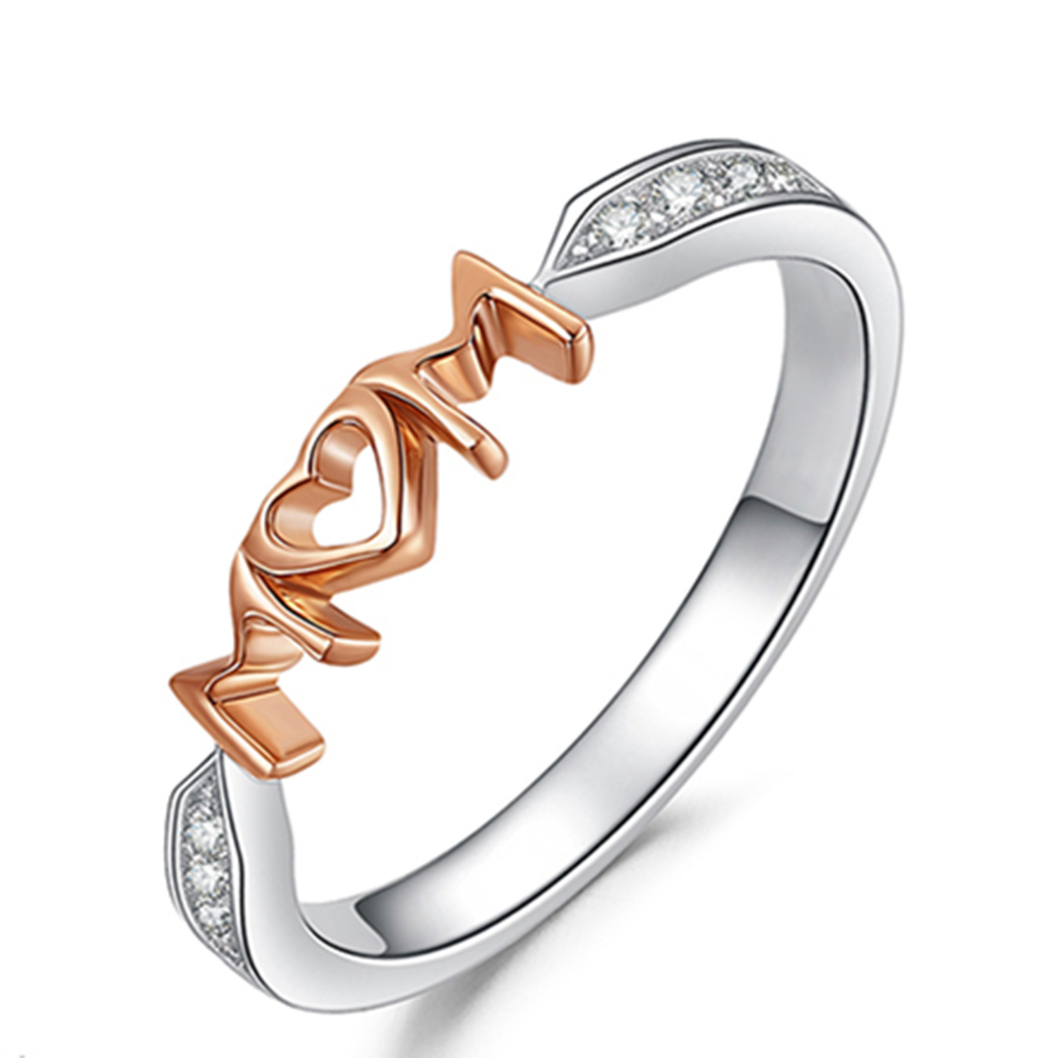 925 Sterling Silver Rings Rose Gold