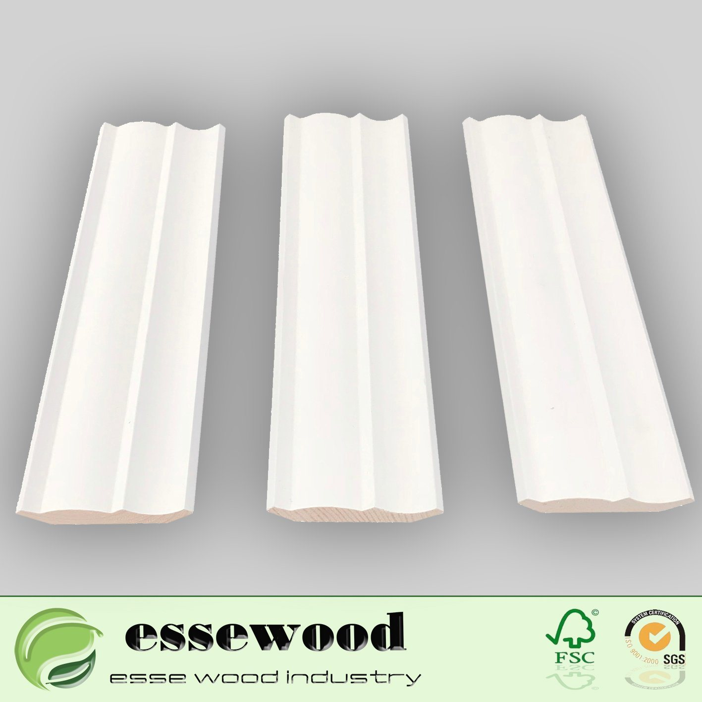 Decorative White Primed Wood Moulding Furniture Moulding/Wood Moulding/  Architraves Baseboard Moulding/Crown Ceiling Moulding