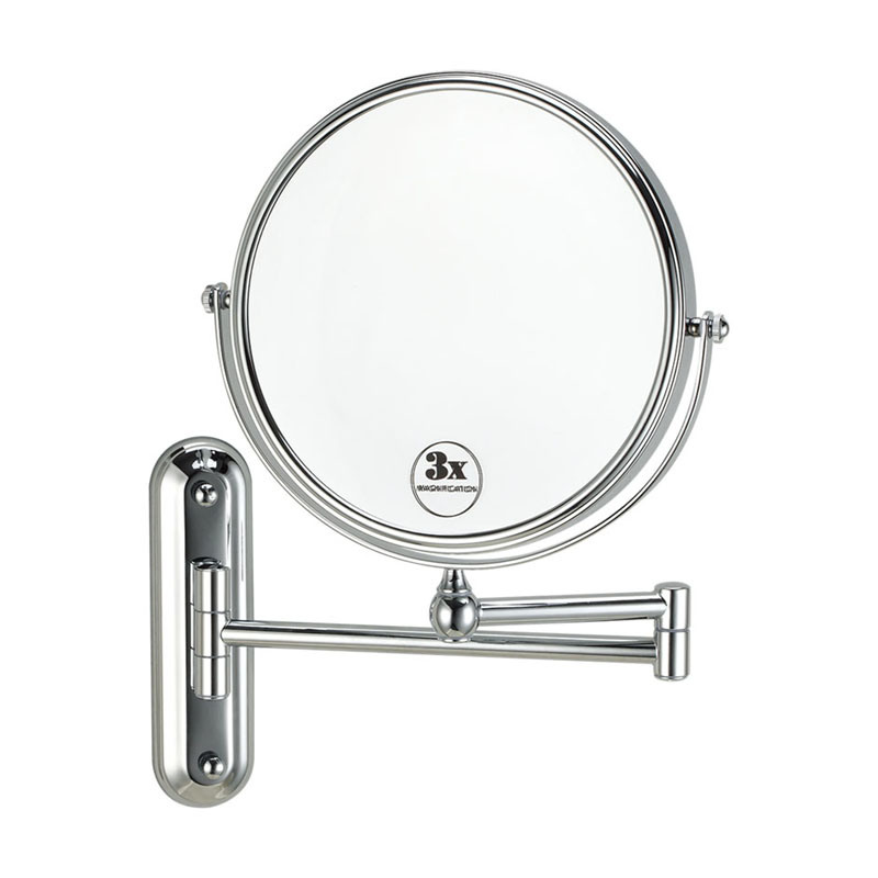 China Bathroom Wall Mounted Swing Arm 3x Magnifying Makeup Mirror Mo 8f W China Bathroom Accessories Makeup Mirror