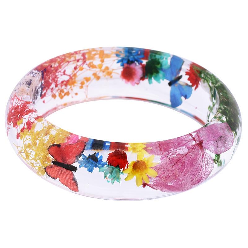 Real Dried Flower Epoxy Resin Bracelet