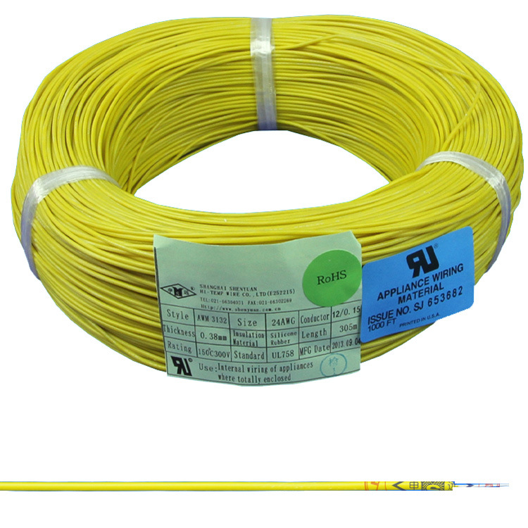 China Awm 3132 Silicone Rubber Heat Resistant Wire - China Awm 3132 ...