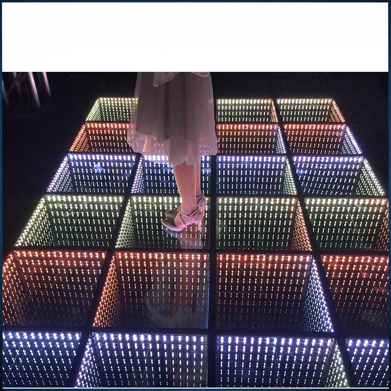 China LED Stage Wedding Decoration Panel Infinity Mirror Dance Floor ...