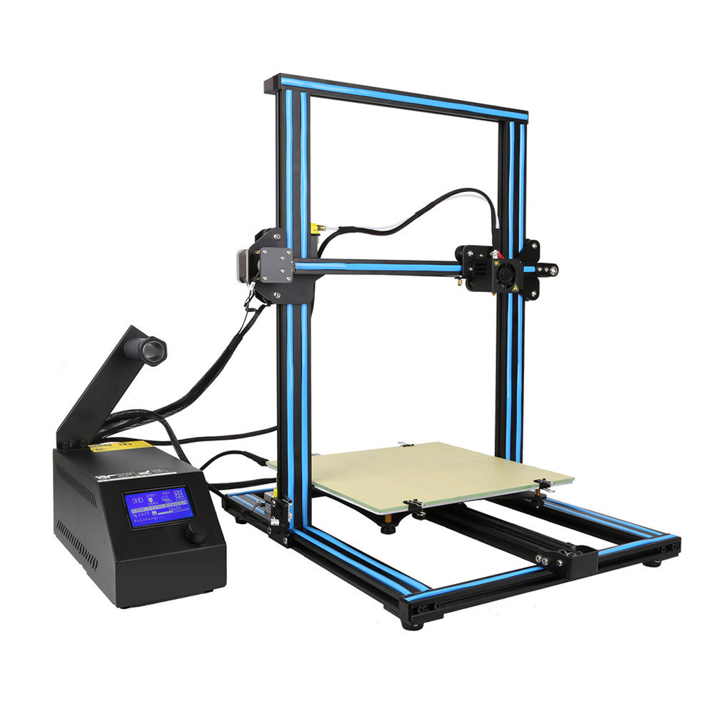 [Hot Item] S4 3D Printer DIY Kit With Monitor Dual Z Axis T Screw Rods  Large Build Size