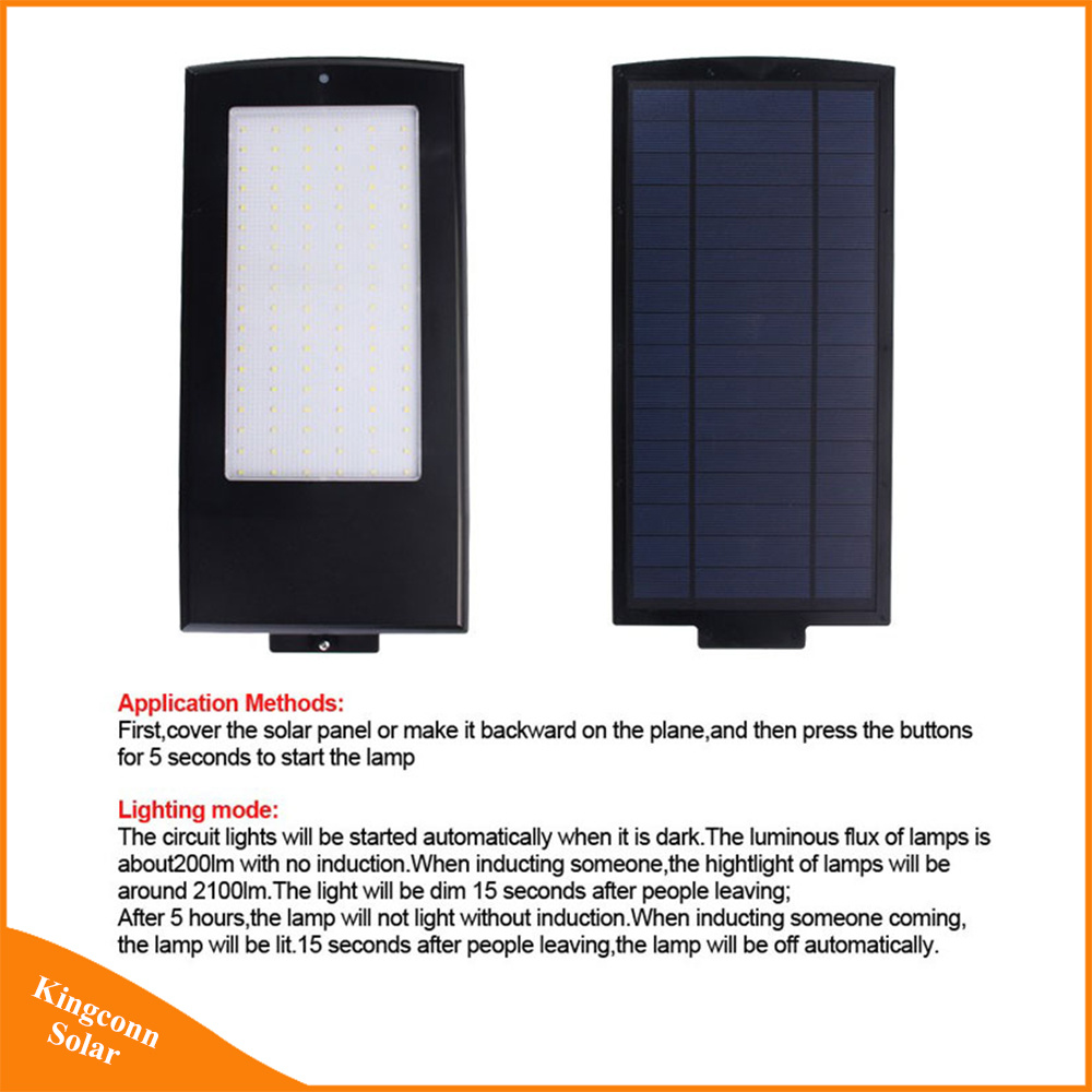 China 15w 2100lm Led Outdoor Solar Street Lamp For Garden Wall Road Light Circuit Lighting With Radar Motion Sensor