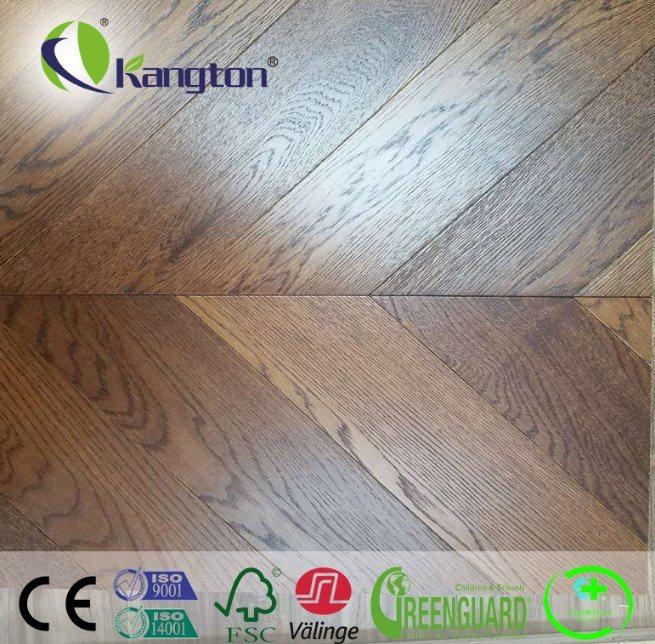 China Square Edge Parquet Pattern Engineered Wood Flooring China
