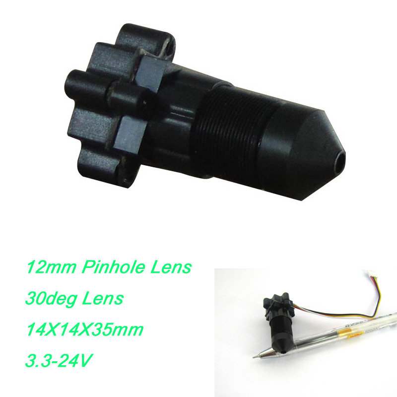Text View 12mm Lens 30deg VOA Color Mini CMOS CCTV Camera Module with 3.7-24V Wide Voltage