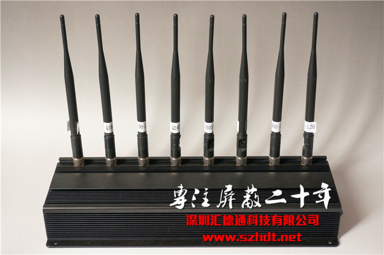 8 Channels Desktop Cellular Cell Phone Signal Jammer WiFi Blocker 3G & 4G Phone Signal Jammer