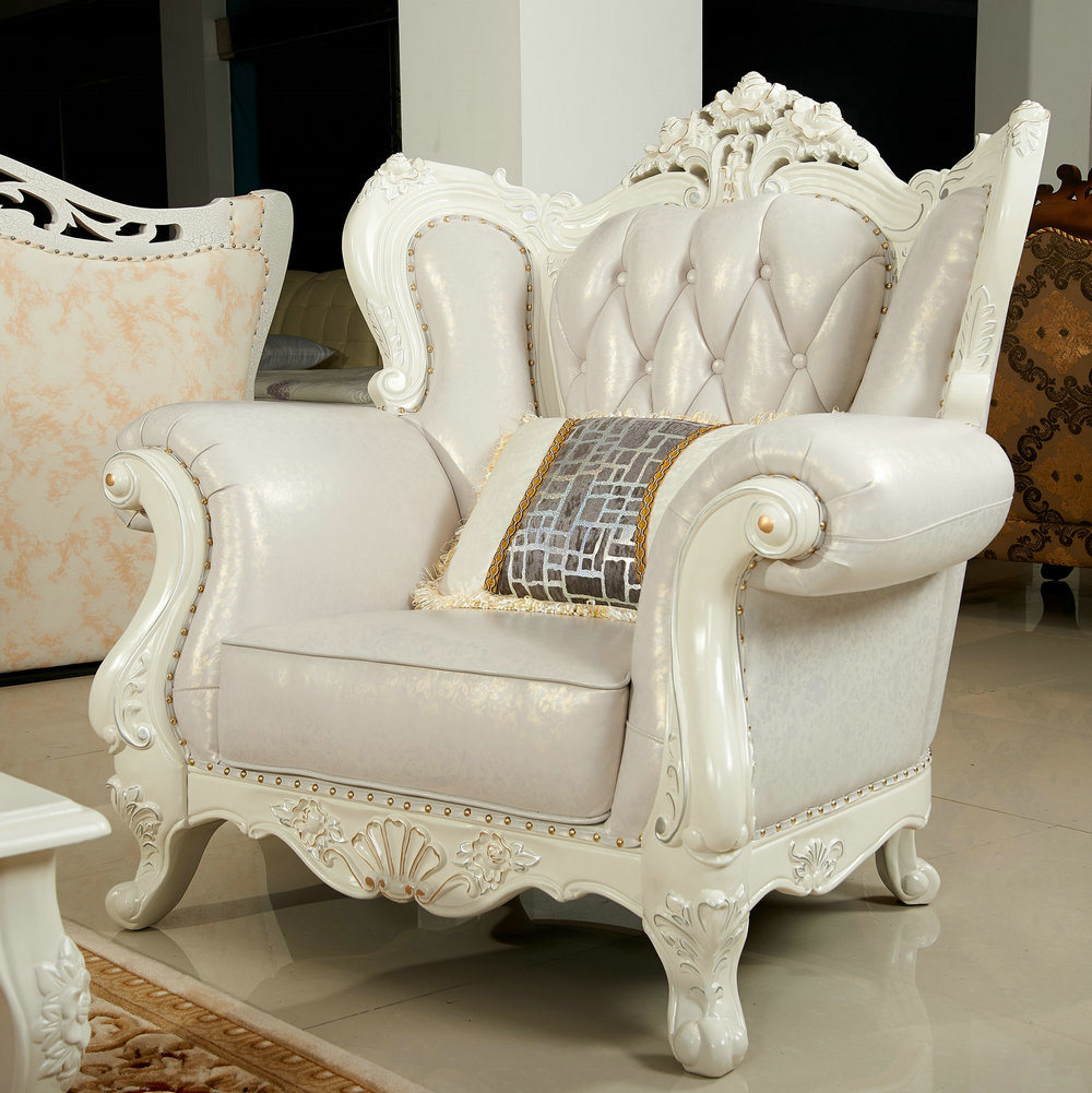 China Cream Color Royal Sofa for Living Room Furniture (159) - China ...