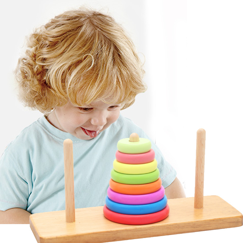 China Children Educational Wooden Math Counting Stack Block Toys for ...