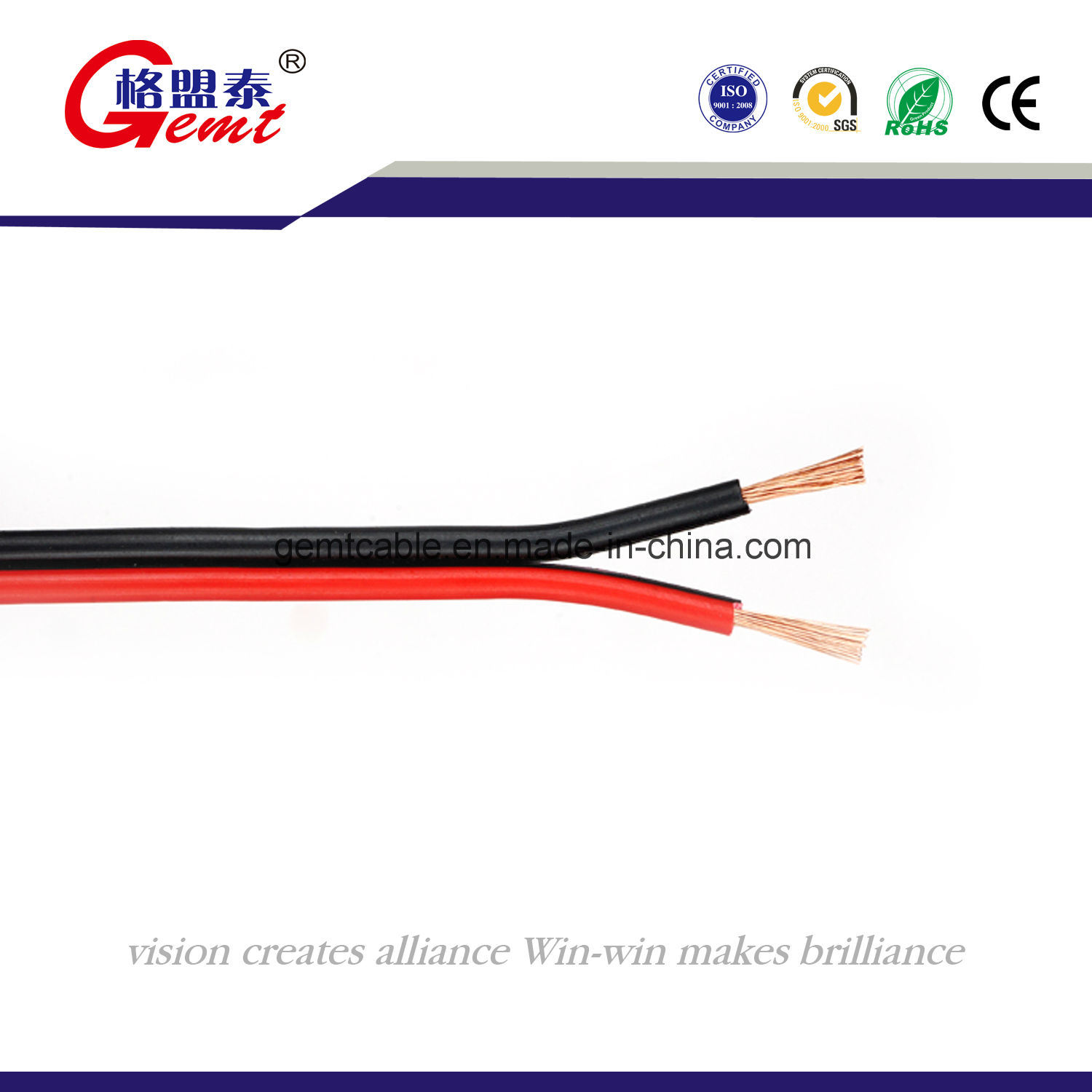 China Black Red Pvc Copper Cable Hi End Audio Speaker Wire Wiring
