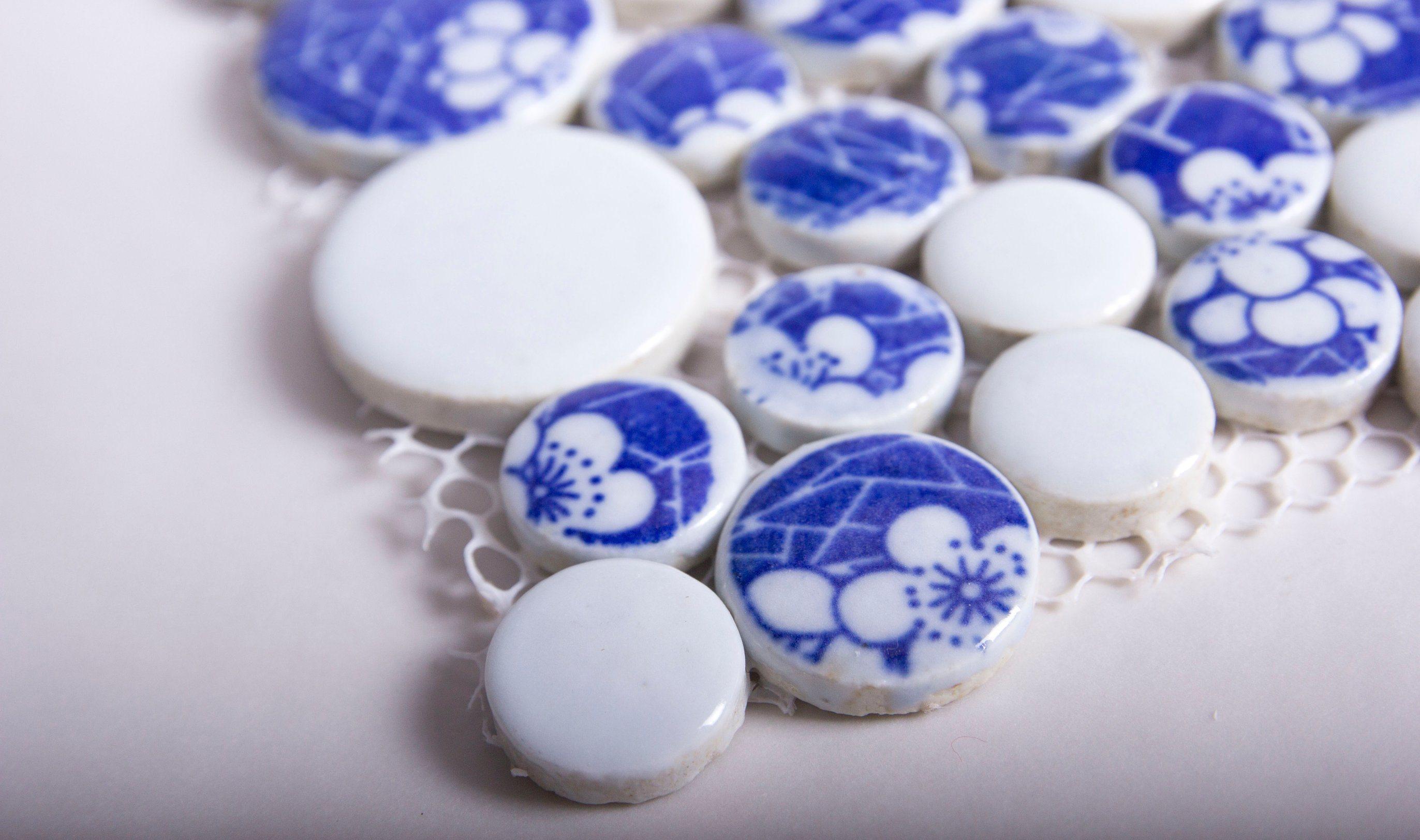 China Flower Pattern Decoration Artist Ceramic Mosaic Tile for Sale ...