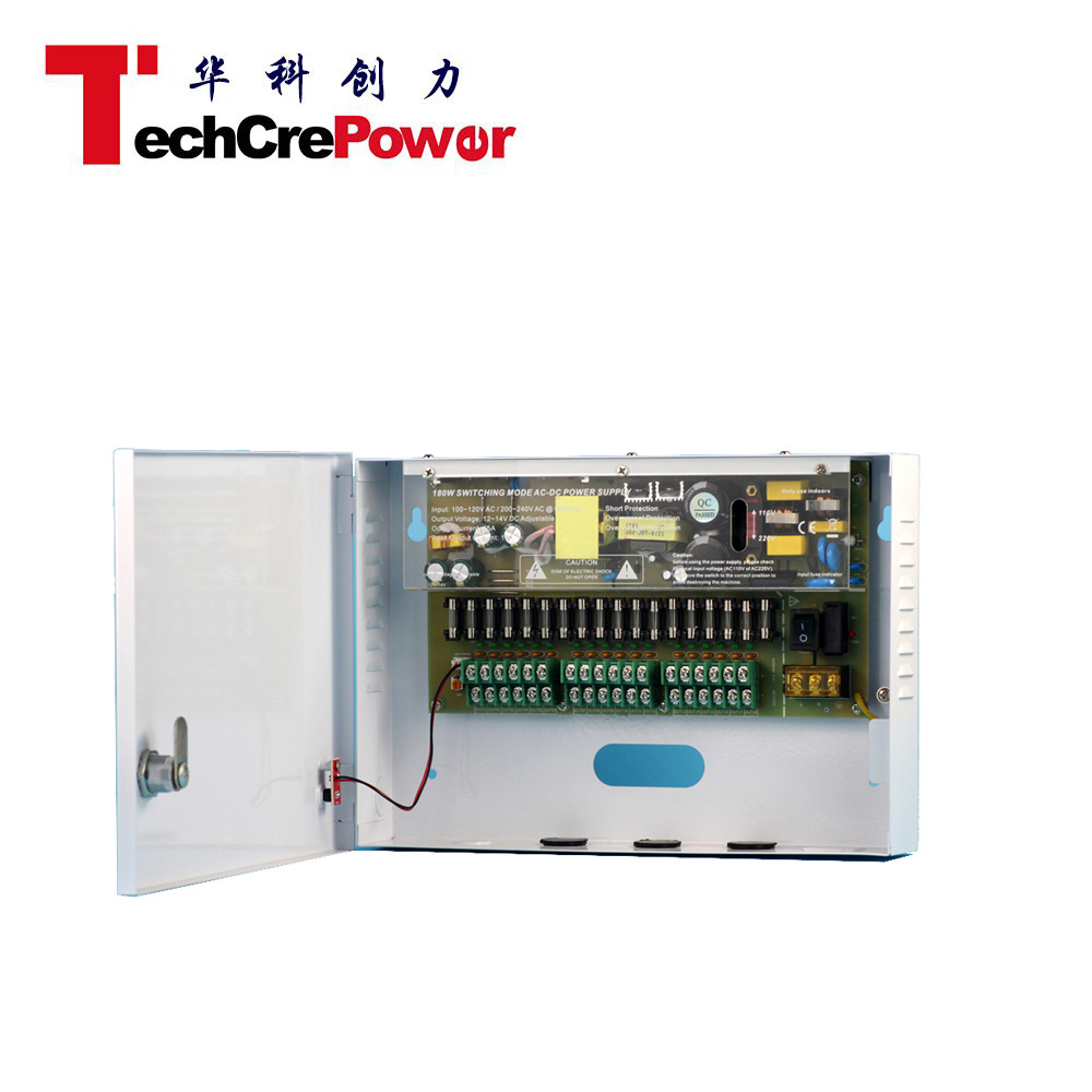 Power Supply 12V 10A 9 Channels for CCTV Camera, Electric Golden Power Tools Power Supply pictures & photos