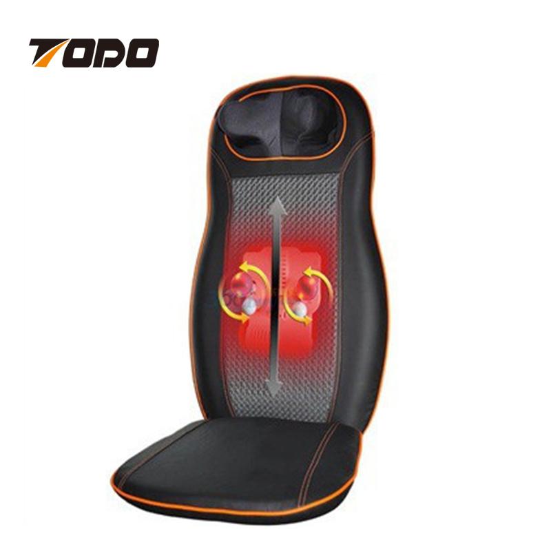 China Electric Shiatsu Heated Massage Chair Vibrating Car Seat Massager Cushion