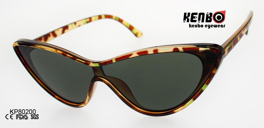 80ce5f1f42de China Fashion Cateye Plastic Sunglasses with One Piece Lens Kp80200 ...