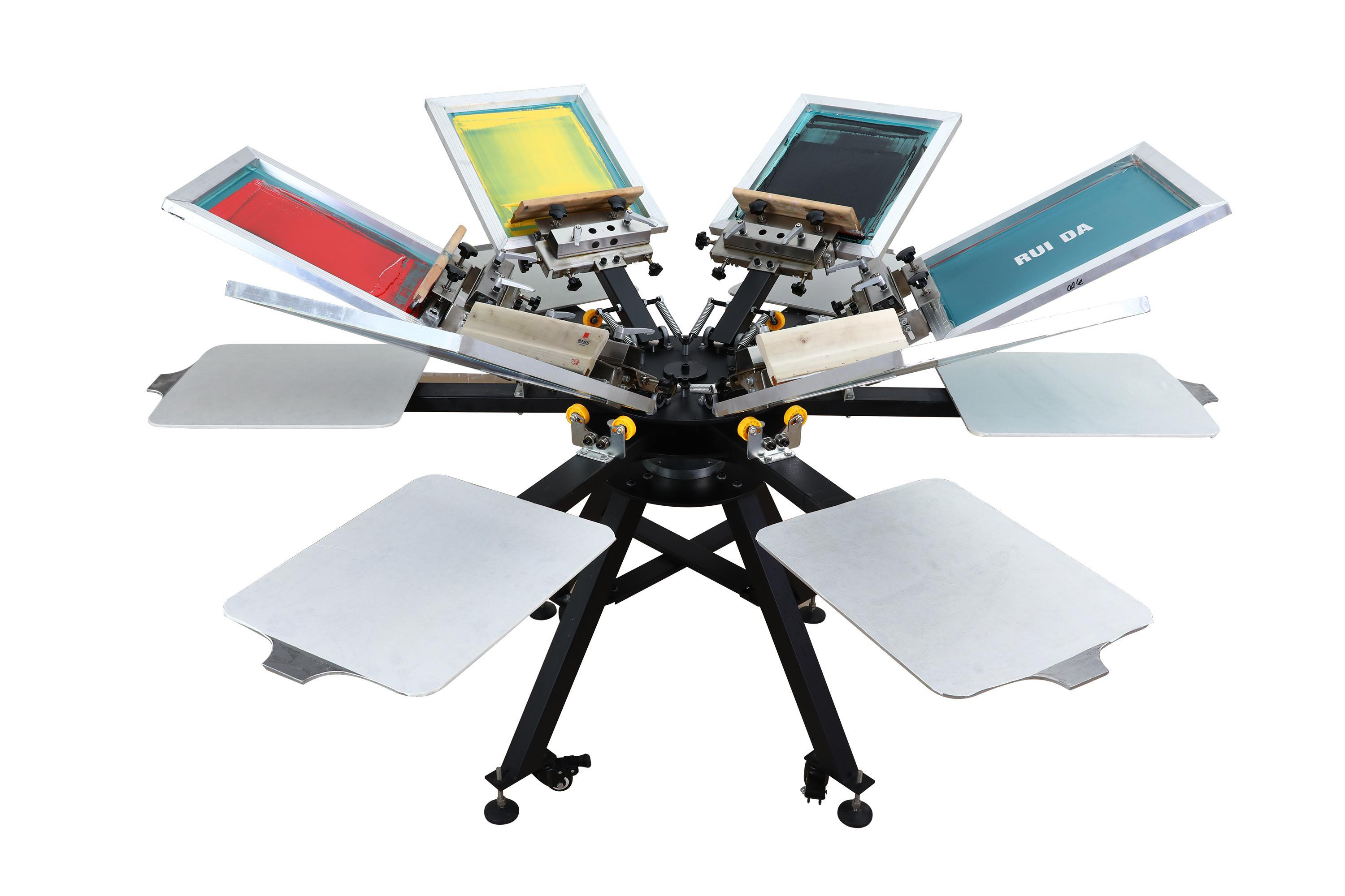 [Hot Item] 6 Color 6 Stations T-Shirt Offset Silk Screen Printing Press  Machine with Micro-Registration