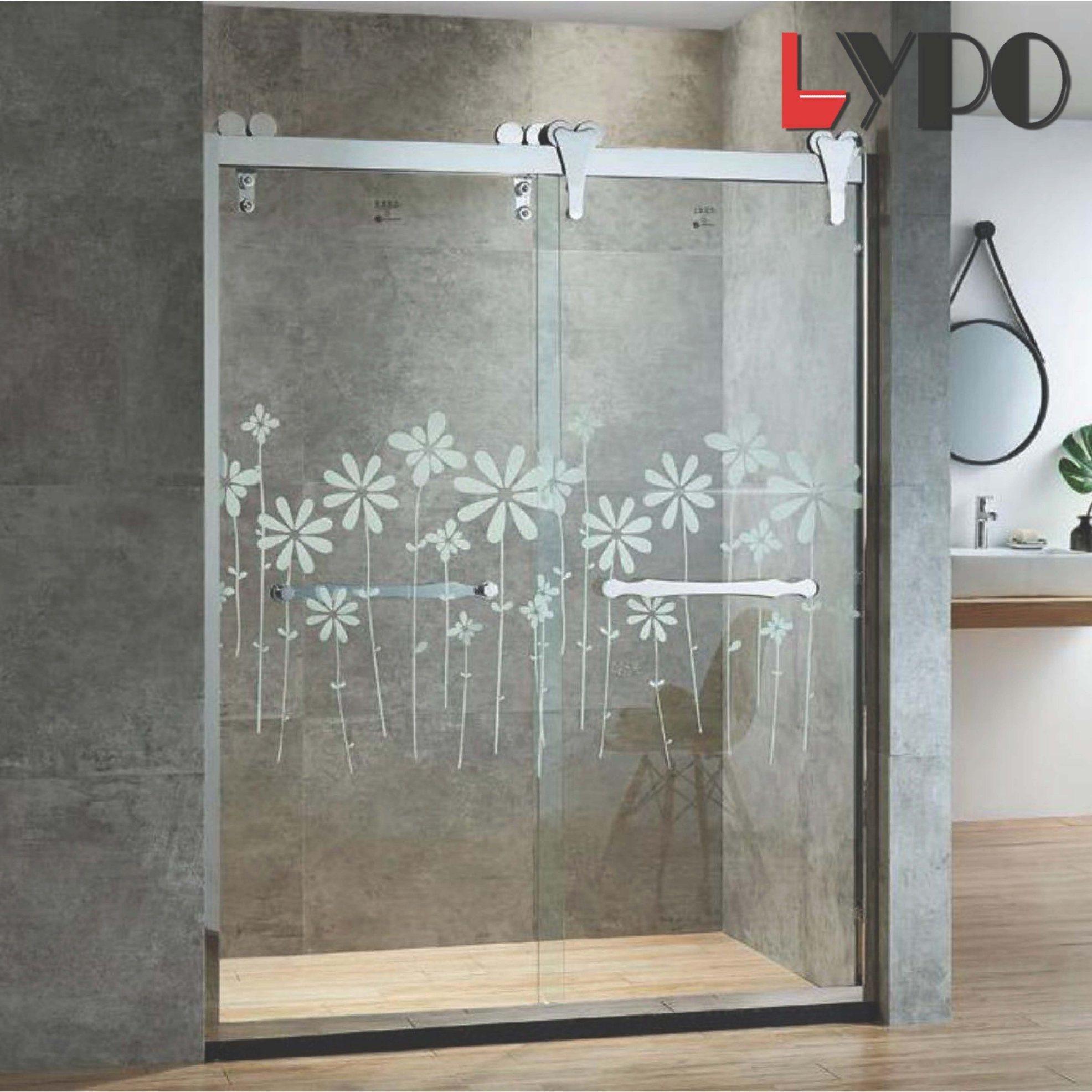 China Luxury Painting Sanitary Ware 10mm Tempered Glass Bathroom Big
