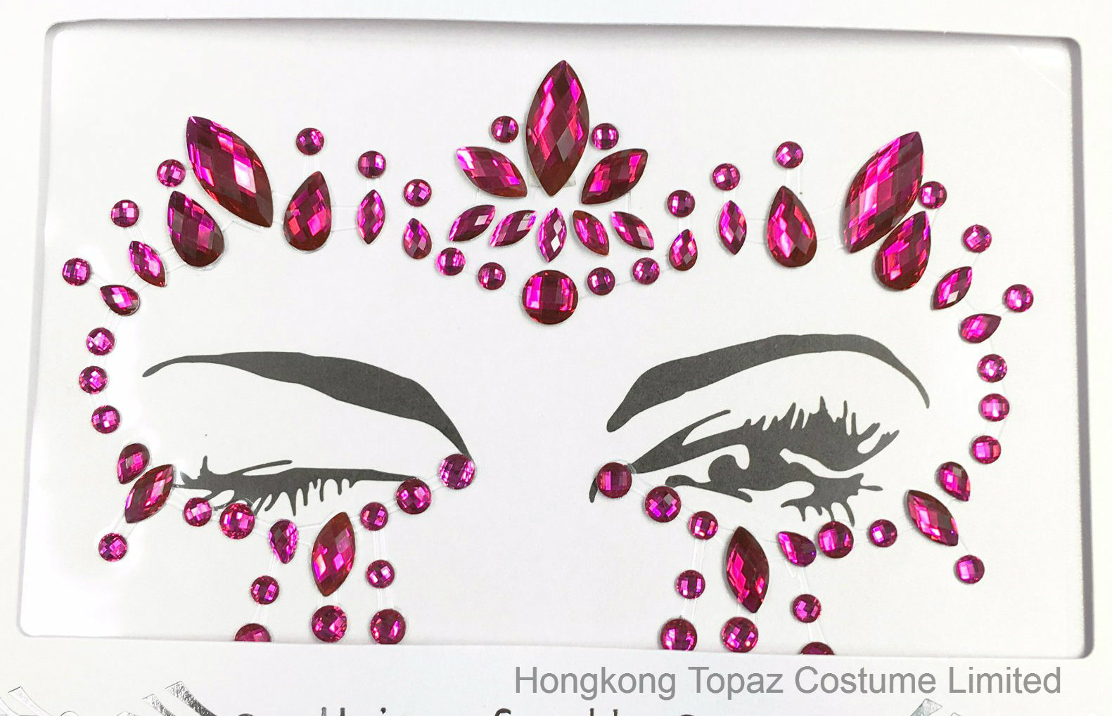 Sparkle custom fashion adhesive body jewelry face gem stickers sr 07