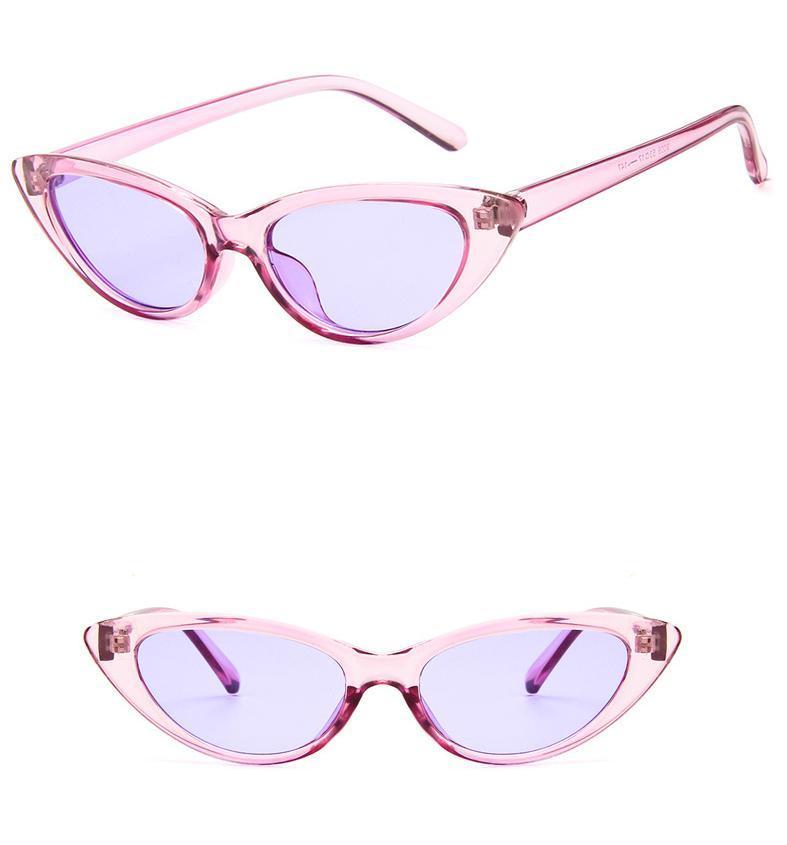 88538b6e33 Leopard Cat Eye Sunglasses Women Black Triangle Vintage Cheap Sun Glasses