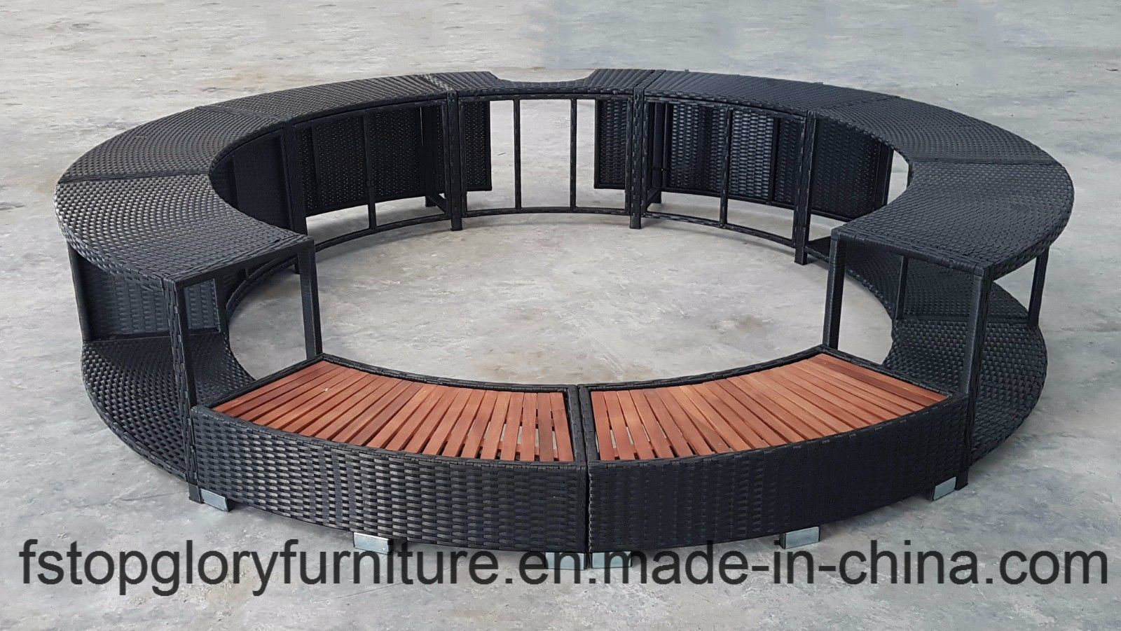 Outdoor Jacuzzi Hot Tub Surround For A Lazy Paris Round Soft