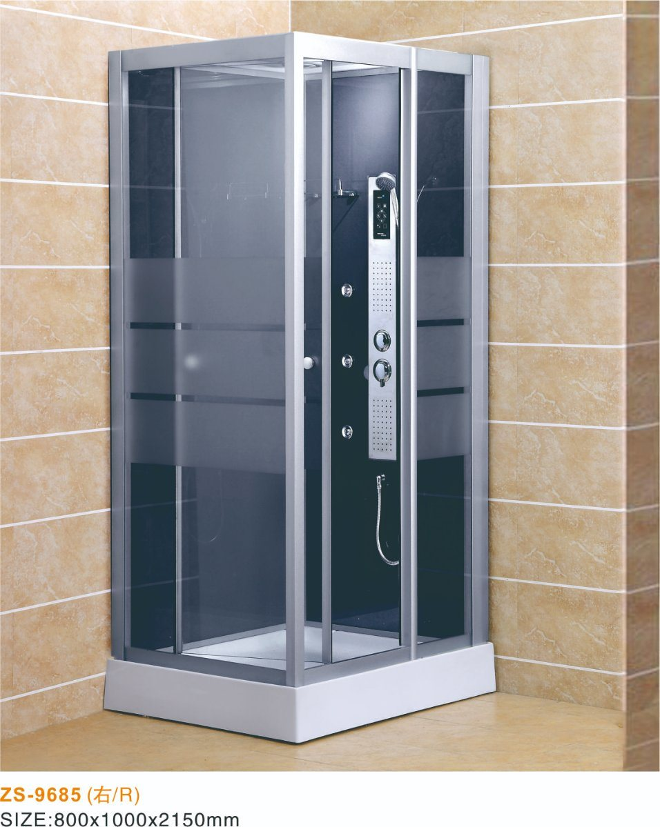 China New Design Square Shape Shower Panel Sliding Door Glass Shower ...
