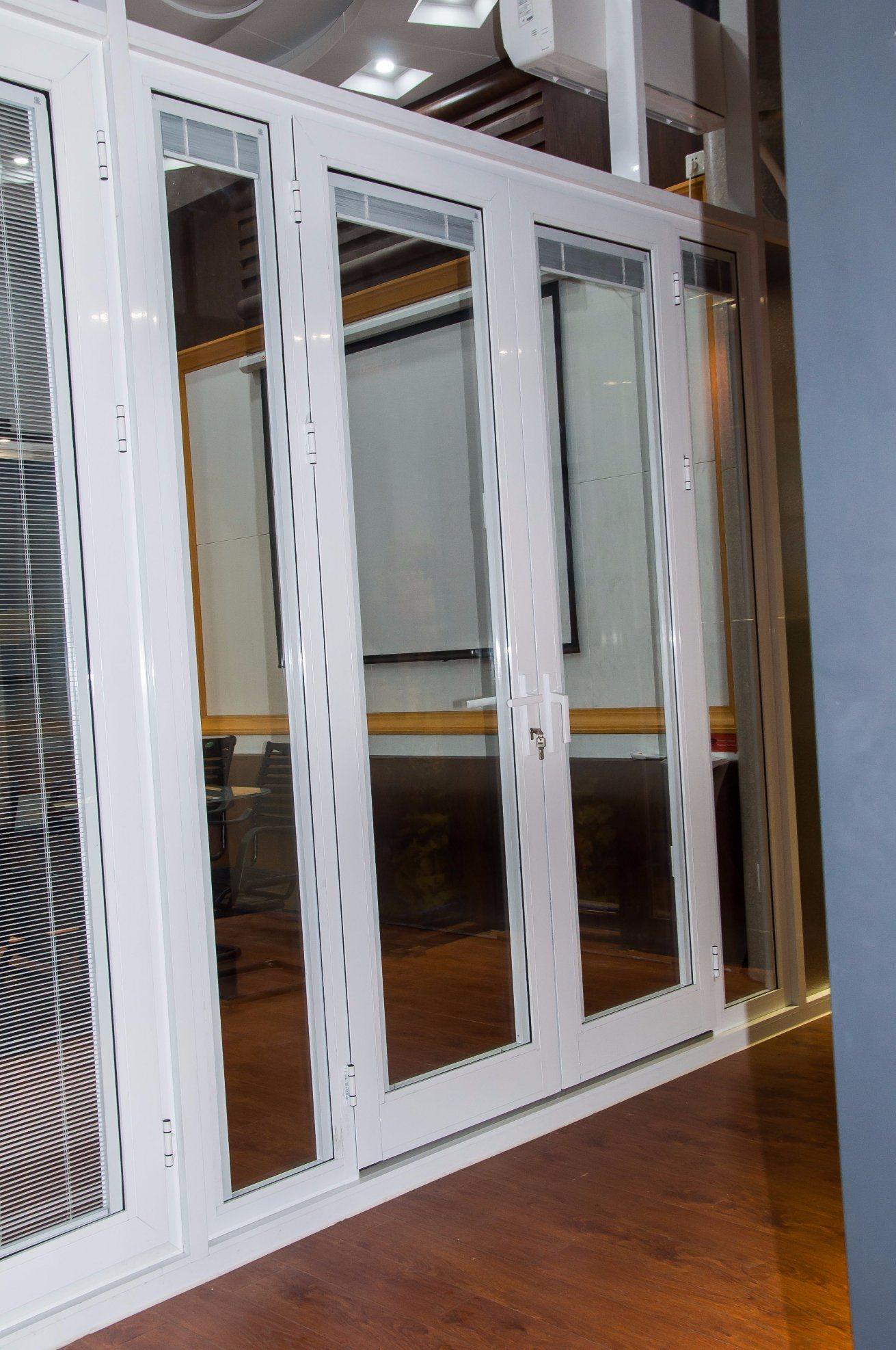 China Customized Aluminium Doors Glass Door French Door With Built