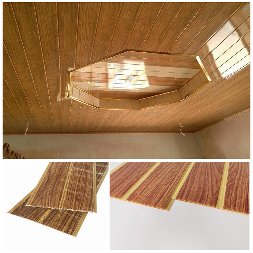 Wooden Interior Pvc Roof Ceiling Design For Living Room China Pvc False Ceiling Board Pvc Roof Ceiling Made In China Com