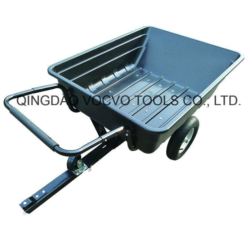 China Heavy Duty Outdoor Utility Pulled Lawn Mower Trailer China Wheelbarrow Garden Carts