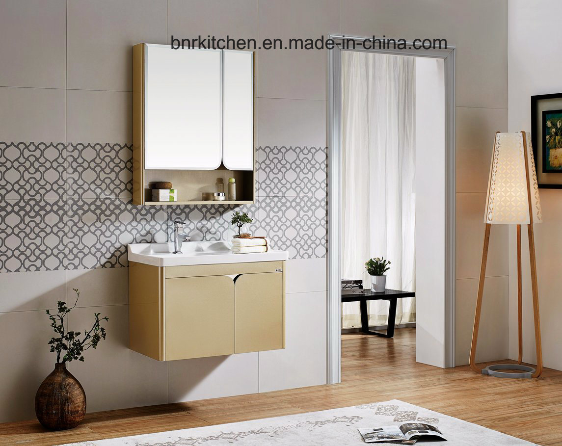 China Stainless Steel Bathroom Cabinet Vanity Without Handle Photos ...