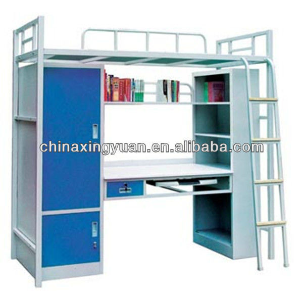 Structure Metal Student Bunk Bed, Student Loft Bed With Desk