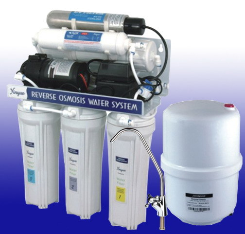 Stainless Steel UV Water Filter (RO-50G-7)