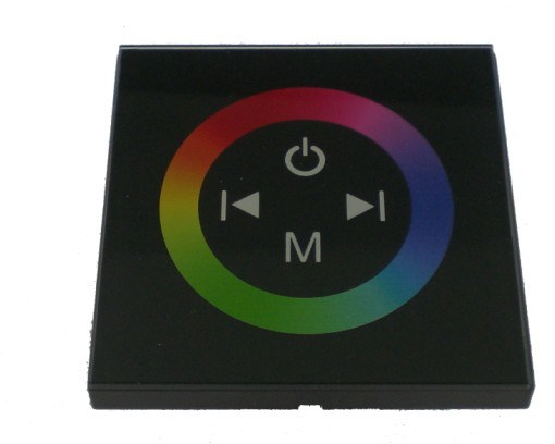 LED Touch Panel RGB Controller 12V~24V Control The LED Lights