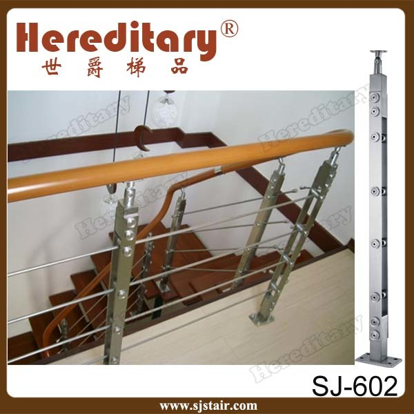 China Wire Rope Stair Railing Balustrade with Stainless Steel Wire ...