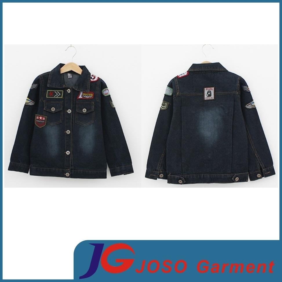 China Black Denim Jacket For Boys Jt8010 China Denim Jacket