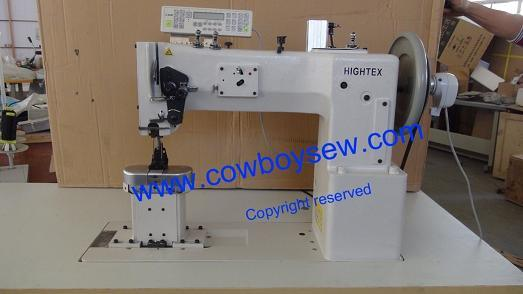 China Heavy Duty Thick Thread Post Bed Twin Needle Triple Feed Cool Upholstery Thread In Sewing Machine