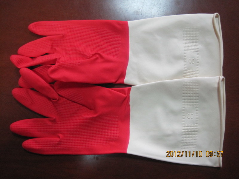 Bicolor Household Gloves
